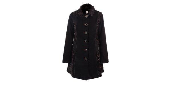 Dámský černý jednořadý kabát DY Dislay Design