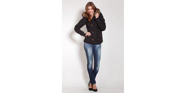 Dámská černá zimní bunda Lois s kožíškem