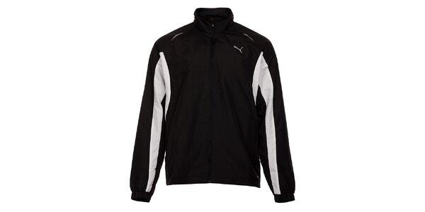 Pánská černá sportovní bunda Puma s bílými detaily
