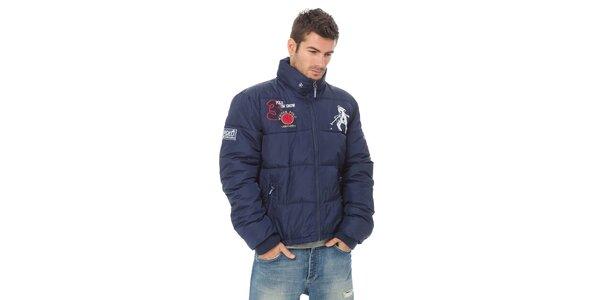 Pánská tmavě modrá péřová bunda Valecuatro