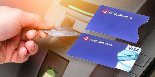 Bezpečnostní pouzdra na platební karty: 2 kusy v balení