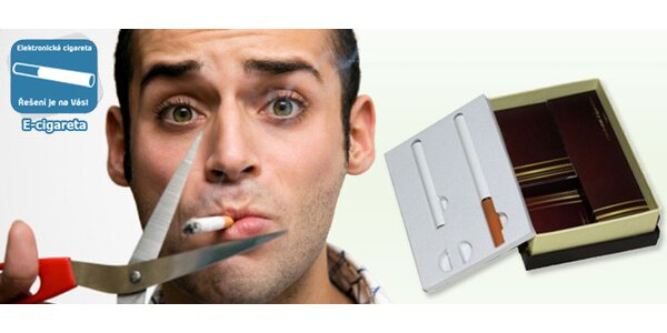 Elektronická cigareta s 25 náplněmi