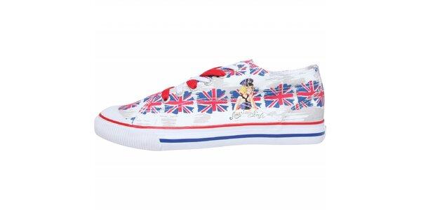 Dámské plátěné tenisky American Eagle s potiskem britské vlajky