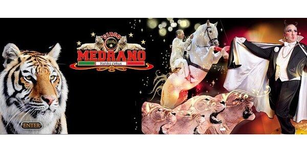 Show italského cirkusu Medrano v pátek 18.10.2013
