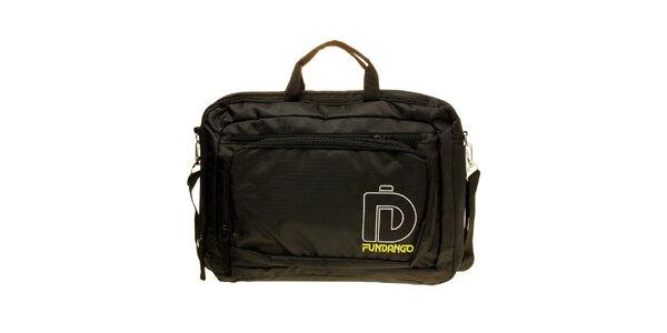 Pánská černá taška na notebook Fundango