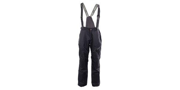 Pánské šedé lyžařské kalhoty Fundago s kšandami