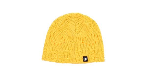 Dámská žlutá pletetná čepice Fundango