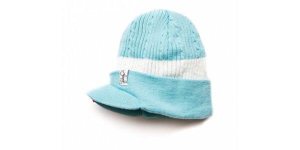 Dámská světle modrá čepice Fundango s kšiltem