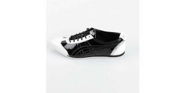 Dámské černo-bílé lakované tenisky Onitsuka Tiger