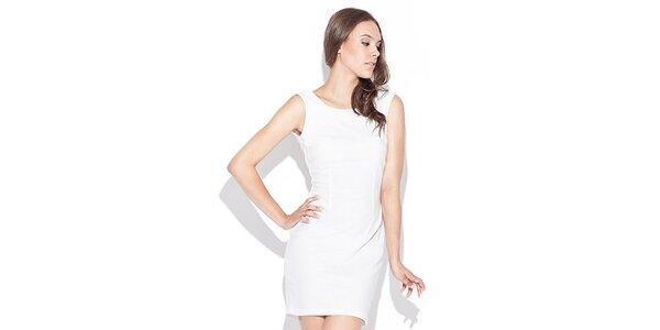 Dámské bílé šaty s odhalenými zády Katrus