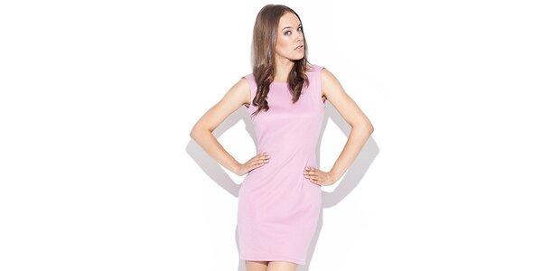Dámské růžové šaty s odhalenými zády Katrus