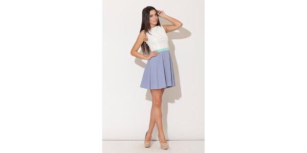 Dámské šaty Katrus s fialkovou kolovou sukní