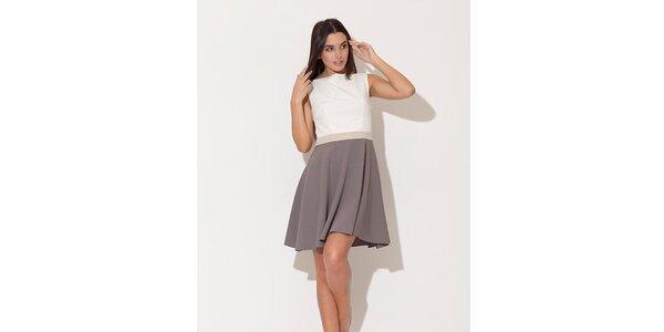 Dámské šaty Katrus s šedou kolovou sukní
