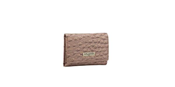 Dámská starorůžová peněženka Lancaster s imitací pštrosí kůže