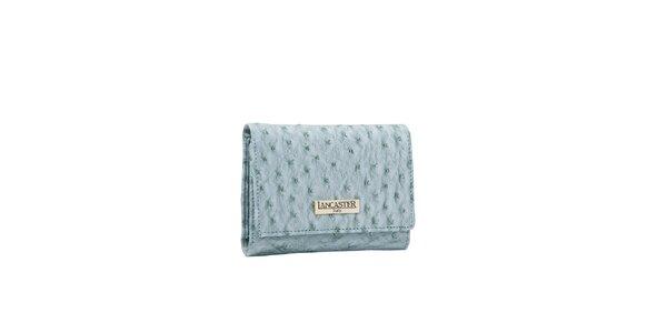 Dámská bleděmodrá peněženka Lancaster s imitací pštrosí kůže