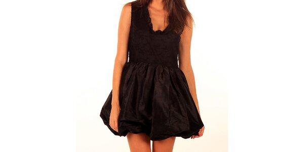 Dámské černé šaty Privee s balonovou sukní