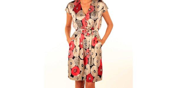 Dámské lesklé šaty s potiskem Privee