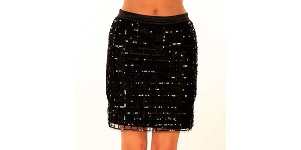 Dámská černá sukně s flitry Privee
