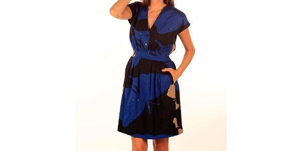 Dámské modro-černé šaty s potiskem Privee