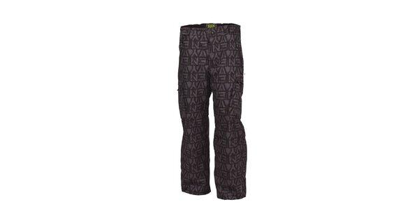 Pánské šedé snowboardové kalhoty Envy s potiskem