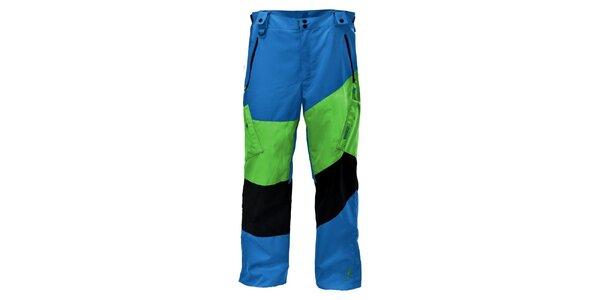 Pánské sytě modré snowboardové kalhoty Envy s barevnými pruhy