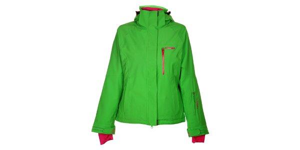 Dámská světle zelená lyžařská bunda Envy