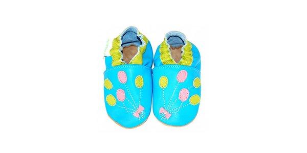 Modré botičky s balónky