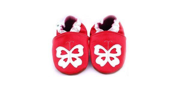 Červené botičky - motýl