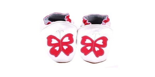 Bílé botičky - motýl
