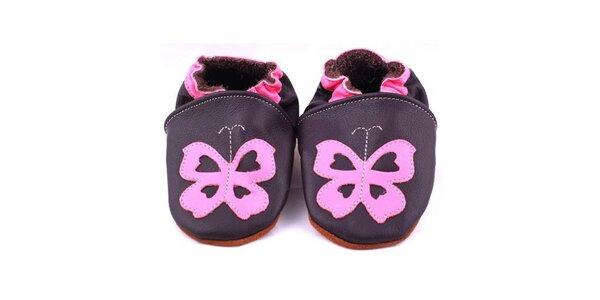 Botičky - fialový motýl