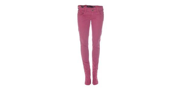 Šedorůžové úzké džíny