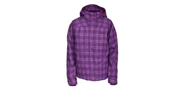 Dámská lyžařská fialová károvaná bunda Envy