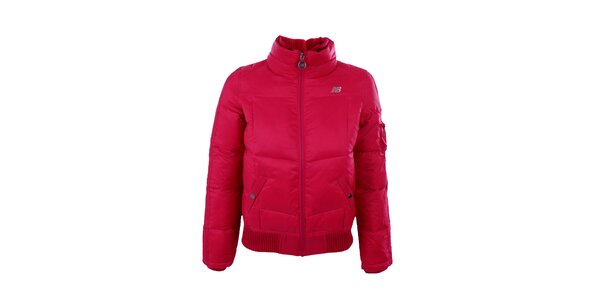 Dámská tmavě růžová zimní bunda New Balance