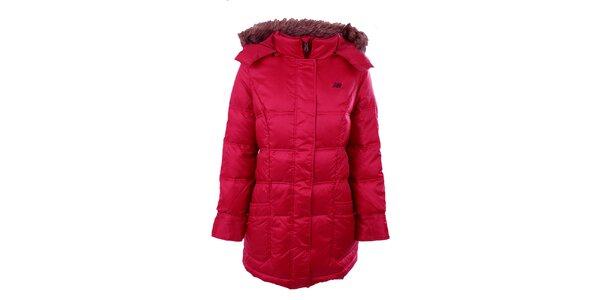 Dámský tmavě růžový kabát New Balance