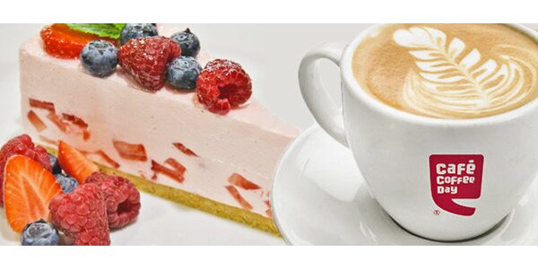 Cappuccino nebo čaj a hříšně dobrý dortík pro dva