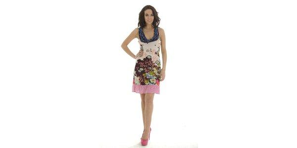 Dámské pestrobarevné šaty bez rukávů Peace&Love