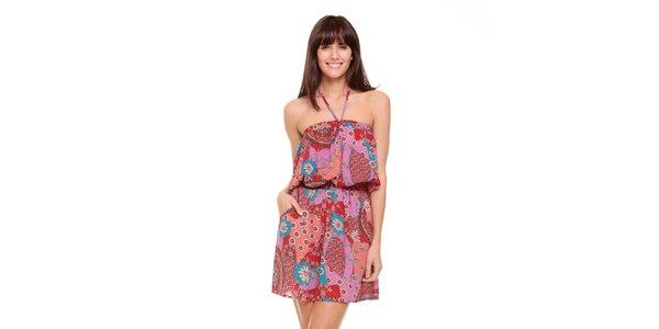 Dámské fialkovo-červené šaty Peace&Love