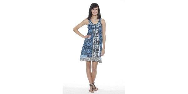 Dámské modro-bílé vzorované šaty Peace&Love