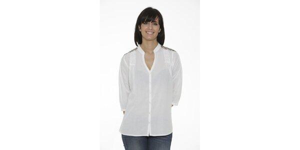 Dámská bílá košile Peace&Love