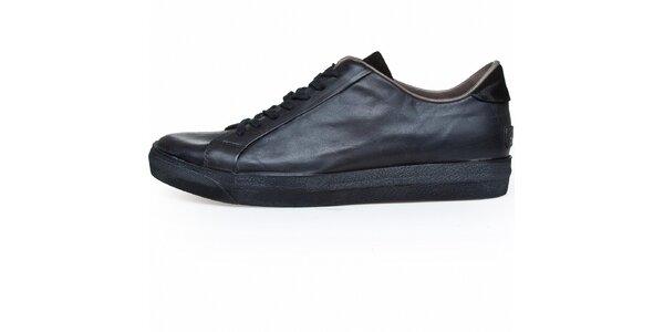 Pánské černé kožené tenisky Just Cavalli