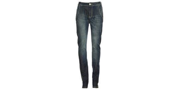 Dámské modré džíny s ozdobnými švy Exe
