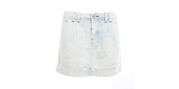 Dámská modro-bílá minisukně Exe Jeans