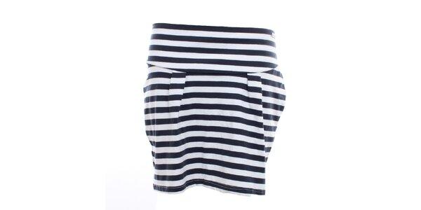 Dámská černo-bílá pruhovaná sukně Exe Jeans