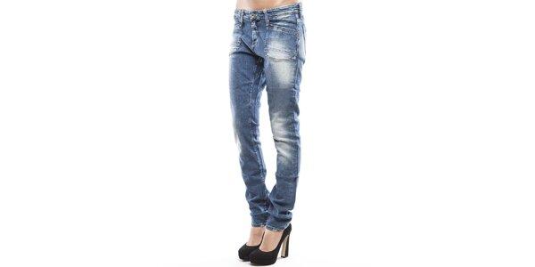 Dámské modré skinny džíny s šisováním Tommy Hilfiger
