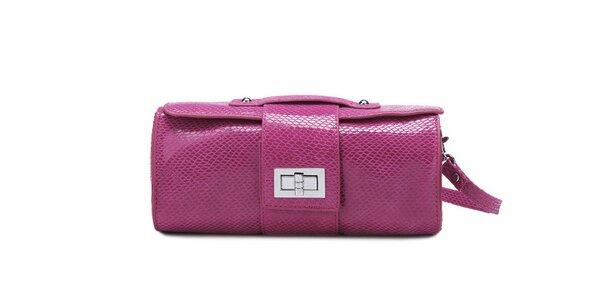 Lesklá růžová kabelka