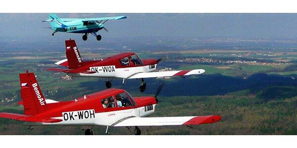 Vyhlídkový let letadlem nad Konopištěm a Benešovem
