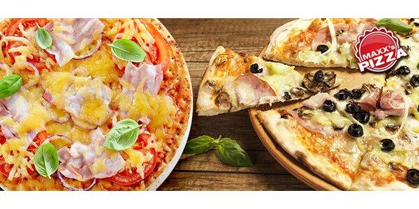 2 pizzy s ingrediencemi dle vaší chuti