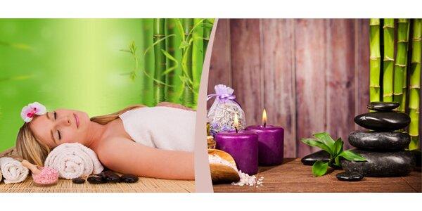Aromaterapeutická olejová masáž lávovými kameny v délce 80 minut