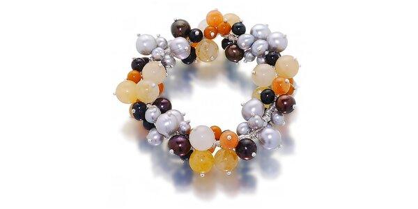 Dámský náramek z perel a polodrahokamů Orchira