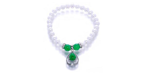 Dámský náramek s perlami a nefrity Orchira